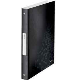 LEITZ Ringbuch WOW, PP, A4, 4-Rund-Ring-Mechanik, Ring-Ø: 25 mm, schwarz