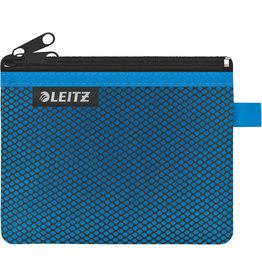 LEITZ Reißverschlusstasche WOW Traveller Zip, S, 6mm, 140x105mm, blau