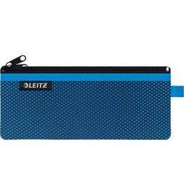 LEITZ Reißverschlusstasche WOW Traveller Zip, M, 6mm, 210x85mm, blau