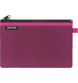 LEITZ Reißverschlusstasche WOW Traveller Zip, L, 6mm, 230x150mm, pink
