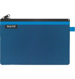 LEITZ Reißverschlusstasche WOW Traveller Zip, L, 6mm, 230x150mm, blau