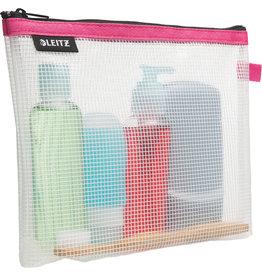 LEITZ Kosmetikbeutel WOW Traveller Zip, transparent, EVA, 24x3x17cm, pink
