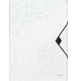 LEITZ Einschlagmappe WOW, PP, Gummizugverschluss, 3 Klappen, A4, weiß