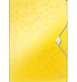 LEITZ Einschlagmappe WOW, PP, Gummizugverschluss, 3 Klappen, A4, gelb