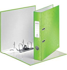 LEITZ Ordner WOW, Graupappe, SK-Rückenschild, mit Griffloch, A4, 52 mm, grün