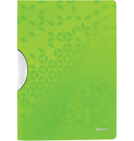 LEITZ Klemmmappe WOW ColorClip, PP, A4, 22,2 x 31 cm, für: 30 Blatt, grün