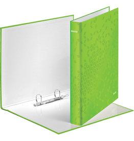 LEITZ Ringbuch WOW, A4, überbreit, 2-D-Ring-Mechanik, Ring-Ø: 25 mm, grün