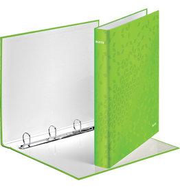 LEITZ Ringbuch WOW, A4, überbreit, 4-D-Ring-Mechanik, Ring-Ø: 25 mm, grün