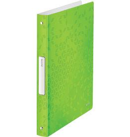 LEITZ Ringbuch WOW, PP, A4, 4-Rund-Ring-Mechanik, Ring-Ø: 25 mm, grün
