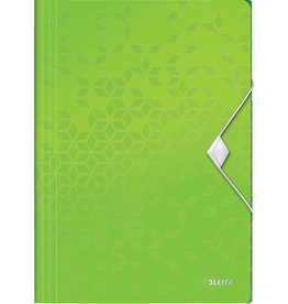 LEITZ Einschlagmappe WOW, PP, Gummizugverschluss, 3 Klappen, A4, grün