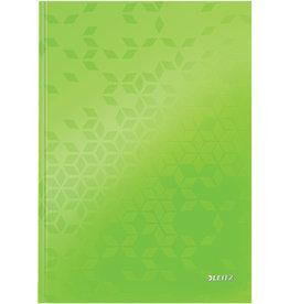 LEITZ Notizbuch WOW, liniert, A4, 90 g/m², Einband: grün, 80 Blatt