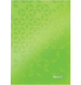 LEITZ Notizbuch WOW, liniert, A5, 90 g/m², Einband: grün, 80 Blatt