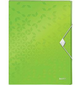 LEITZ Dokumentenbox WOW, PP, Gummizugverschluss, A4, 25 x 33 x 3 cm, grün
