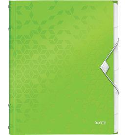 LEITZ Ordnungsmappe WOW, PP, Gummizugverschluss, A4, 6 Fächer, grün