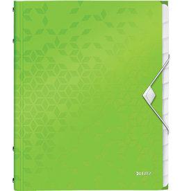 LEITZ Ordnungsmappe WOW, PP, Gummizugverschluss, A4, 12 Fächer, grün