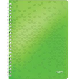 LEITZ Collegeblock WOW, liniert, A4, 80 g/m², Einband: grün, 80 Blatt