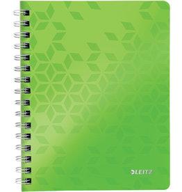 LEITZ Collegeblock WOW, liniert, A5, 80 g/m², Einband: grün, 80 Blatt