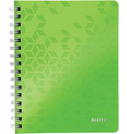LEITZ Collegeblock WOW, kariert, A5, 80 g/m², Einband: grün, 80 Blatt