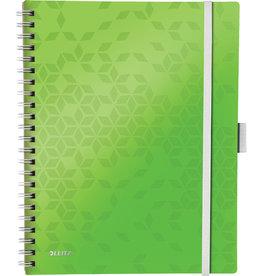 LEITZ Collegeblock WOW Be Mobile, kariert, A4, Einband: grün, 80 Blatt