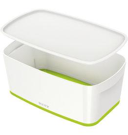 LEITZ Aufbewahrungsbox MyBox® WOW, Klein, ABS, mit Deckel, 5 l, weiß/grün