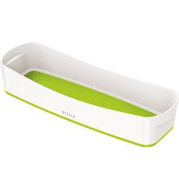 LEITZ Aufbewahrungsbox MyBox® WOW, Schale, länglich, ABS, weiß/grün