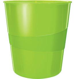 LEITZ Papierkorb WOW, PS, rund, 15 l, 290 x 324 mm, grün