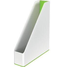 LEITZ Stehsammler WOW Duo Colour, PS, A4, 73 x 272 x 318 mm, weiß/grün