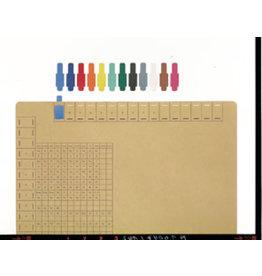 LEITZ Signal, Hartfol., z.Stecken, 40x12mm, gelb
