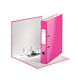 LEITZ Ordner WOW, Graupappe, SK-Rückenschild, A4, 52 mm, pink, metallic