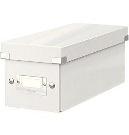 LEITZ CD-Box Click & Store WOW, mit Deckel, für: 30 CDs, weiß