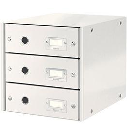 LEITZ Schubladenbox Click & Store WOW, mit 3 Schubladen, A4, weiß