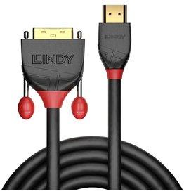 LINDY Verbindungskabel, HDMI™/DVI-D - Stecker/Stecker, L: 2 m, grau