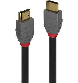 LINDY Verbindungskabel Anthra Line, 2xHDMI™-ST/ST, L: 0,5 m, schwarz