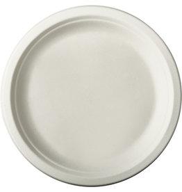 PAPSTAR Teller pure, Zuckerrohr, ungeteilt, rund, Ø: 23 cm, weiß