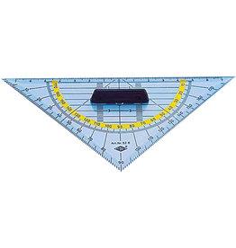 WEDO Geodreieck, Kst., mit abnehmbarem Griff, Hypotenuse: 16cm, tr