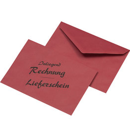 MAILmedia Briefumschlag, Rechn./Liefersch., o.Fe., gum, C6, 75g/m², RC, rot
