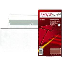 MAILmedia Briefumschlag, o.Fe., hk, DL, 220 x 110 mm, 80 g/m², Offset, weiß