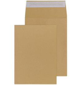 MAILmedia Versandtasche, m.Falte, 20mm, Spitzb., o.Fe., hk, C4, 229x324mm, braun