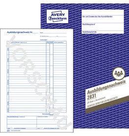 AVERY Zweckform Ausbildungsnachweis, in Heftform, A4, 1fach, Papier, weiß, 28 Blatt