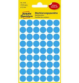 AVERY Zweckform Markierungspunkt, Handbeschr., sk, Ø: 12mm, blau