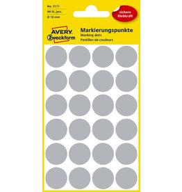 AVERY Zweckform Markierungspunkt, Handbeschr., sk, Ø: 18mm, grau