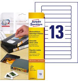 AVERY Zweckform Etikett Stick+Lift, Video Rü., I/L/K, A4-Bg., abl., 147,3x20mm