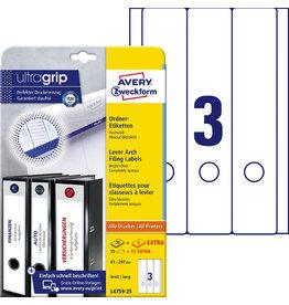 AVERY Zweckform Rückenschild ultragrip, sk, breit/lang, 61x297mm, weiß