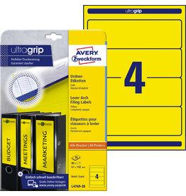 AVERY Zweckform Rückenschild ultragrip, sk, breit/kurz, 61x192mm, gelb