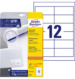 AVERY Zweckform Etikett, I/L/K, A4-Bg., sk, Pap., 97x42,3mm, weiß