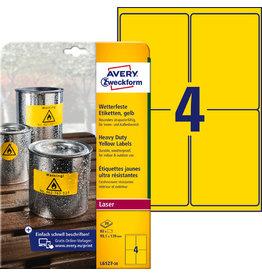 AVERY Zweckform Etikett, wetterfest, L/K, sk, permanent, 99,1x139mm, gelb, matt