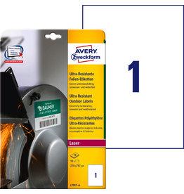 AVERY Zweckform Etikett, ultra-resistent, L/K/FL/FK, sk, 210x297mm, weiß, matt