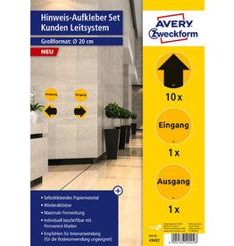 AVERY Zweckform Etikett, Kundenleitsystem, sortiert, sk, ablösbar, Papier, Ø: 200 mm