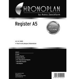 Chronoplan Register, 31 Blatt, A5, 16,5 x 21 cm