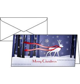 sigel Designkarte, Weihn., Klappkarte m.Umschl., DL, Winter's Eve